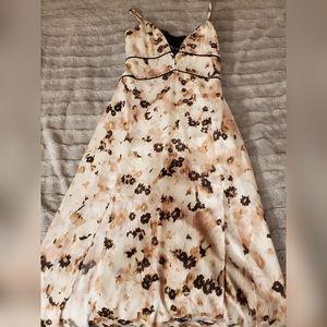 Floral silk maxi dress